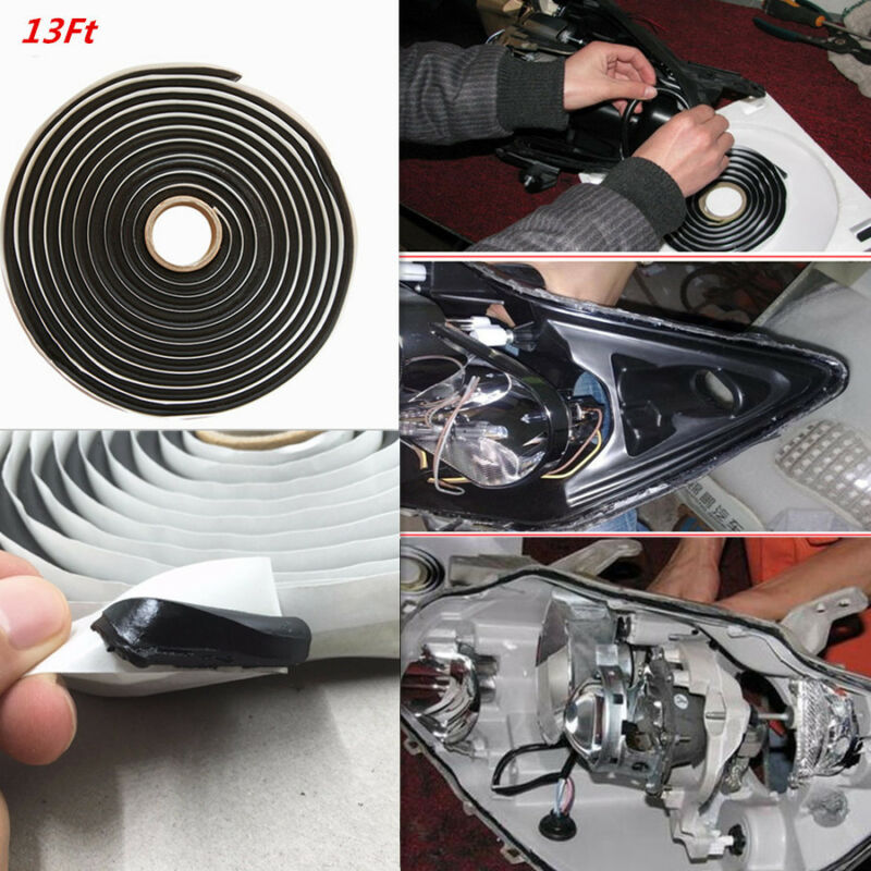 Car 13Ft Glue Butyl Windowscreen Snake Sealant Adhesive Retrofitting Headlight
