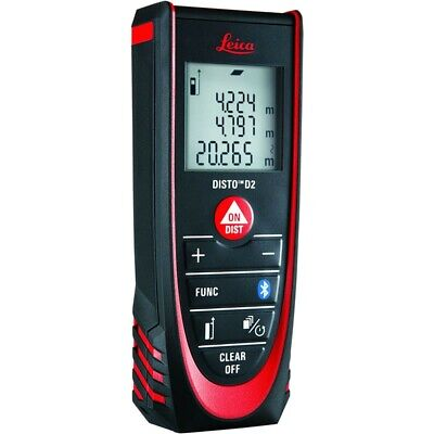 Leica Disto D2 New 330ft Laser Distance Meter With Bluetooth 4.0 Blackred