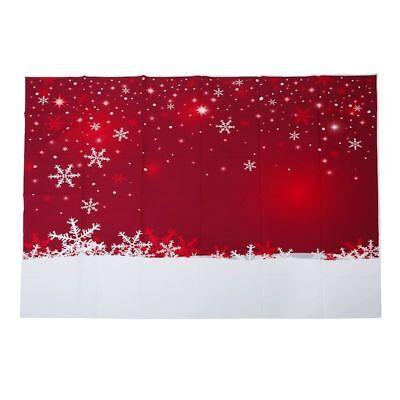 7x5ft Rot Weihnachten Hintergrund Wand Schneeflocke Kulisse Fotografie O5F5