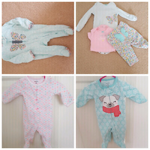 NEWBORN 3 sleepers and 1 outfit, $10 for all or $3 each