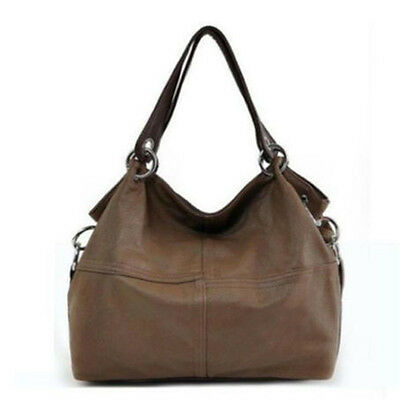 Women Leather Satchel Handbag Shoulder Tote Lady Messenger Crossbody Bag Khaki
