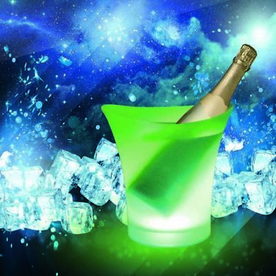 COLOUR CHANGING LED ICE BUCKET CHAMPAGNE WINE DRINKS COOLER RETRO PARTY BAR GIFT