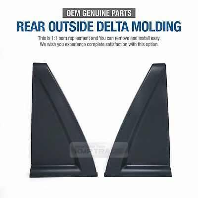 Genuine Parts Rear Door Outside Delta Molding Set L+R For KIA 2005-2010 Sportage