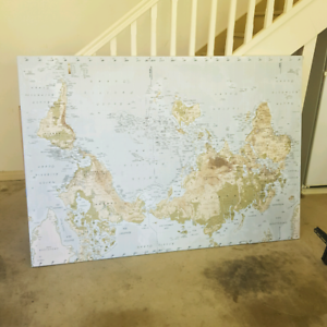 Australian World Map Art Gumtree Australia Adelaide Hills