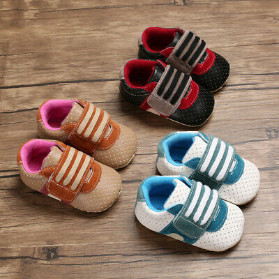 Easy Step Faux Leather - Newborn Infant Baby Boys Crib Shoes Comfortable Sneakers First Step Shoes 0-18 M
