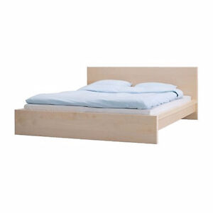 IKEA MALM Bed Frame with Slats (Queen)