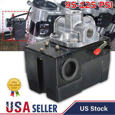 4 Port Air Compressor Pressure Switch Control Valve 95-125 Psi With Unloader Usd