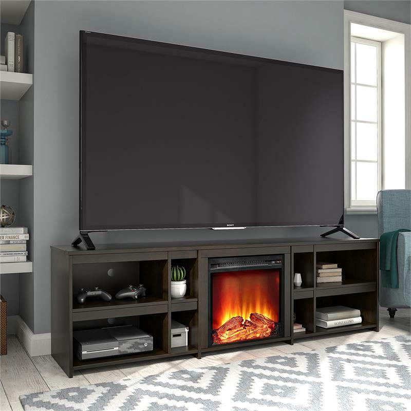 """Ameriwood Home Miles Fireplace TV Stand up to 70"""" in Espresso"""