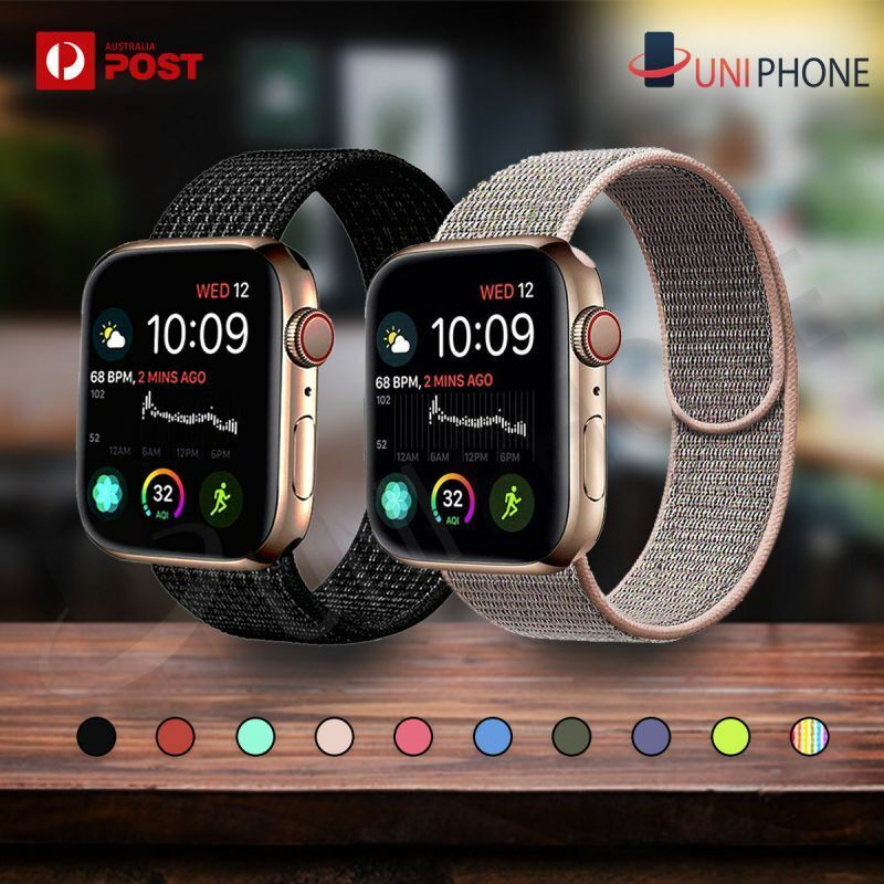 Jewellery - Sport Nylon Woven Loop Strap iWatch Band for Apple Watch Series SE 6 5 4 3 2 1