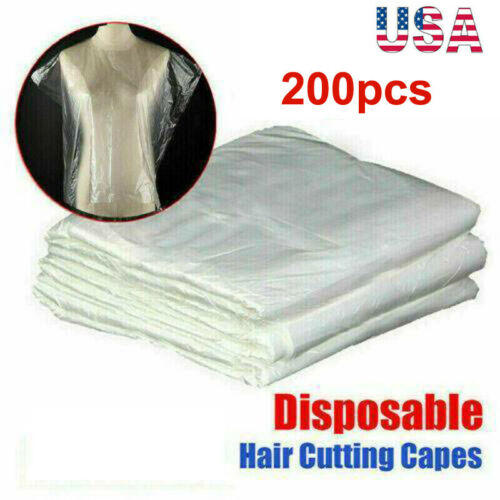 200PCS Disposable Hair Cutting Capes Hairdressing Barber Apron Dyeing Gown USA Health & Beauty