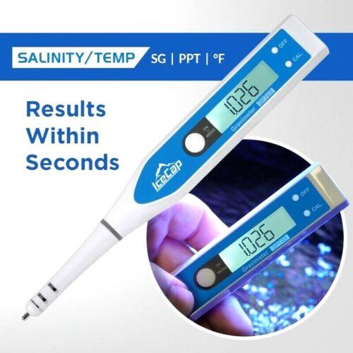 Icecap Salinity/Temperature Digital Tester Saltwater Aquariums Refractomer NEW