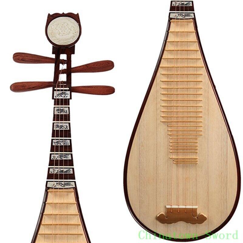 Chinese Pipa Lute Guitar Dalbergia Oliveri Gamble Xinghai Brand Liuqin 琵琶 #4140