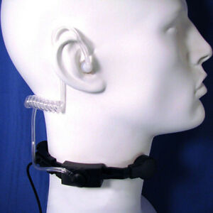 Security Tactical Throat Mic Earpiece Headset