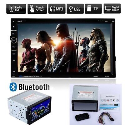 """7"""" Double 2DIN In Dash Car Stereo Bluetooth CD DVD Player USB SD IPOD FM Radio"""