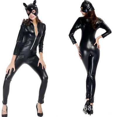Women Siamese Anime Catwoman Costume Adult Cat Gothic Cosplay Club - Anime Catwoman Kostüm
