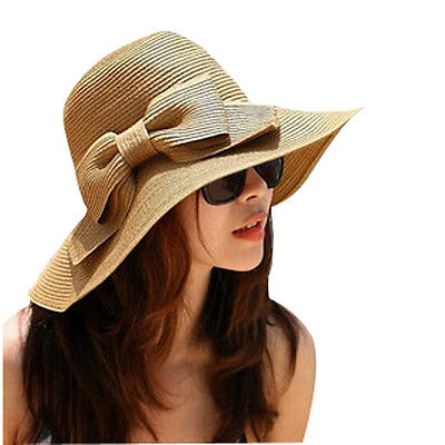 Bohemian Fashion Summer Sun Floppy Hat Straw Beach Wide Large Brim Cap Special