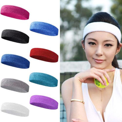7ee1e837998f18 1 Stück Baumwolle Damen Herren Sport Sweat Schweißband Stirnband Yoga DE