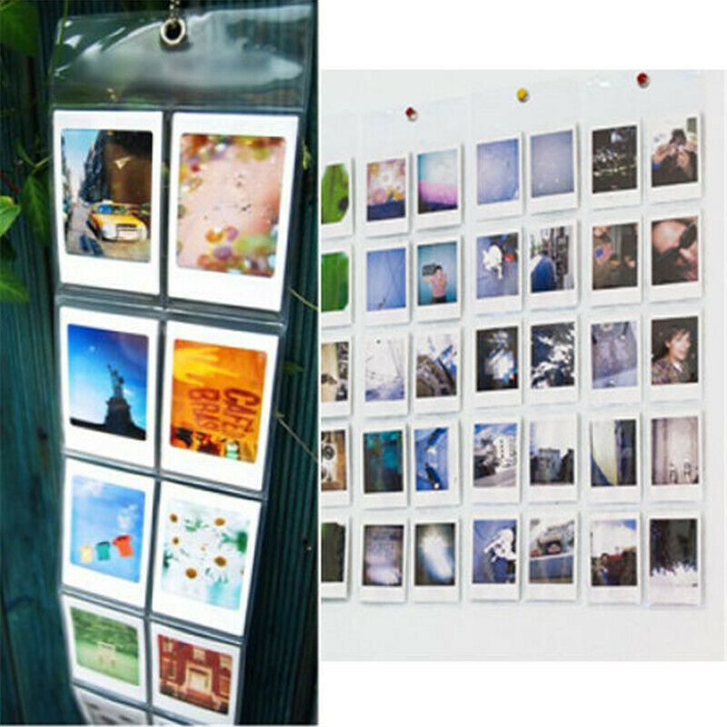 "50 Pocket 3"" Clear Wall Hanging Album Instax Mini Polaroid Photo Picture Display"