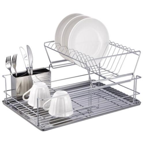 Home Basics 2 Tier Stainless Steel Dish Rack