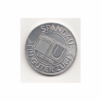 BRD Medaille Berlin U-Bahnhof Rathaus Spandau 1.10.1984  Nr.11/6/16