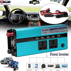 1500/3000W Car DC 12V to AC 220V Power Inverter Charger Converter For Electronic