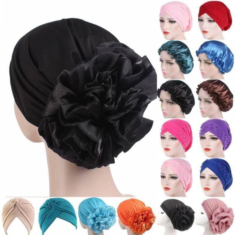 Women Muslim Turban Hats Flower Cancer Chemo Hair Loss Cap Hijab Scarf Headwear Clothing, Shoes & Accessories