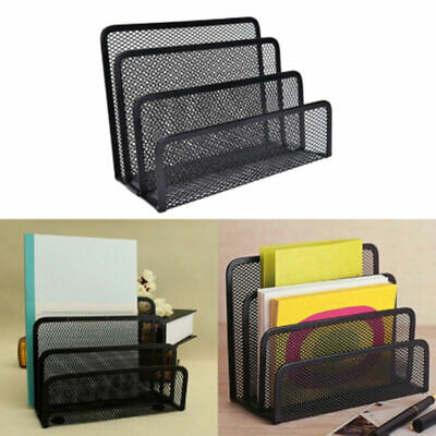 Metal Mesh Desk Office Supplies Holder File Document Magazine Storage Organizer