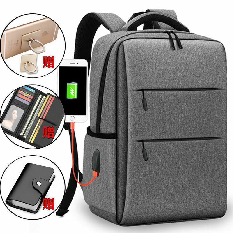 15-inch rechargeable backpack men and women laptop business travel school bag Bags
