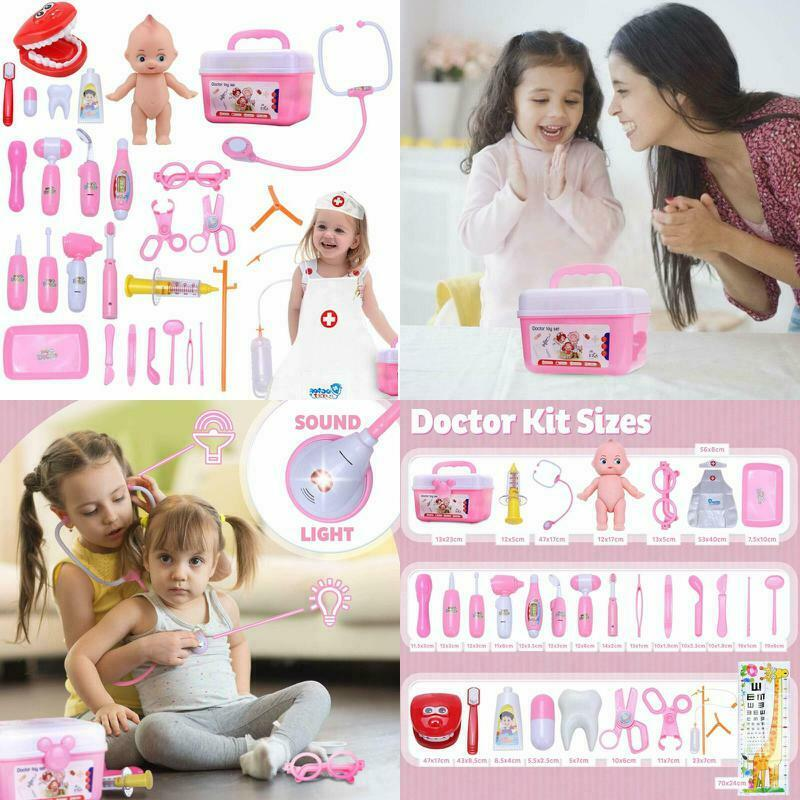 Girls Toy Doctor Kit For Kids And Toddlers Pretend Play Grea