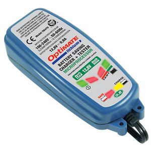 Optimate 3 Lithium 12V 0.8A Battery Charger For LiFePO4 Motorcycle Batteries