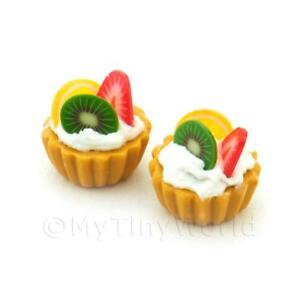 3-Dolls-House-Miniature-Kiwi-Strawberry-And-Lemon-Tarts