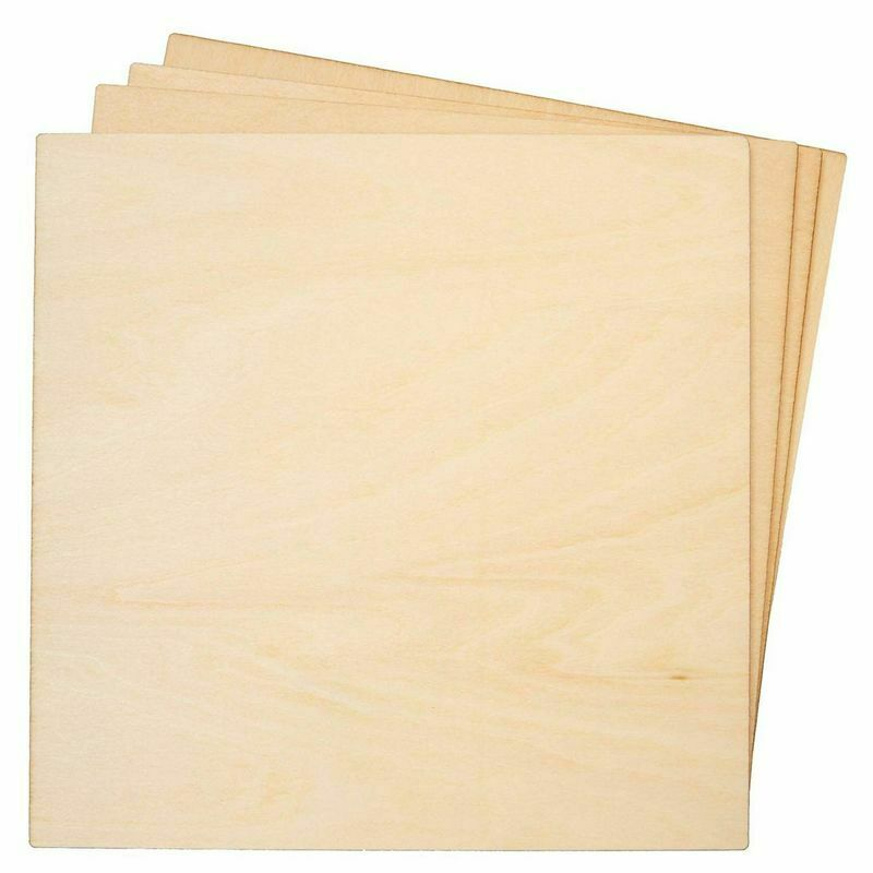"""8-Pack Basswood Plywood Thin Sheets for Wood Burning, Laser Cutting, 1/8""""x 6"""""""
