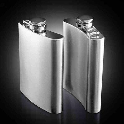 (Stainless Steel Hip Liquor Whiskey Alcohol Flask Cap 7 8 10oz Pocket Wine Bottle)