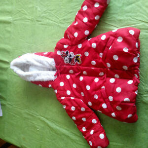 2-3t girls minnie mouse winter jacket