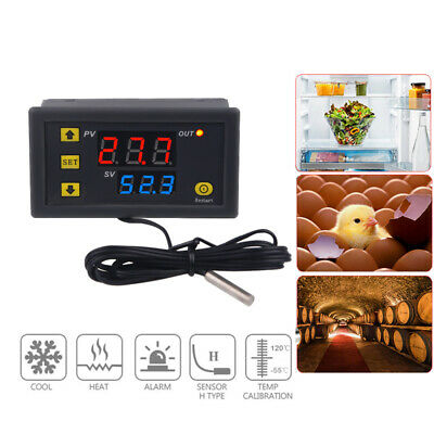 12v 110v-220v Digital Led Temperature Controller Thermostat Control Switch Probe