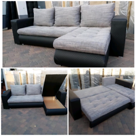 SAME DAY DELIVERY BRAND NEW CORNER SOFA BED READY TO DELIVER TODAY