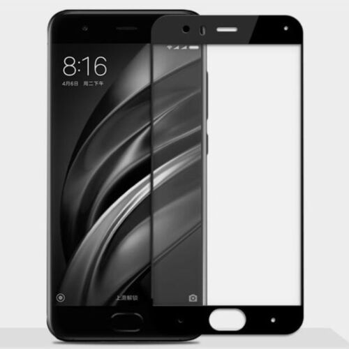 For Xiaomi Mi 6 5D Curved Tempered Glass Adhensive HD Screen Film Guard Cover 9H