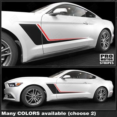 Ford Mustang Stripes (Ford Mustang 2005-2019 Duo Color Side Accent Stripes Decals (Choose)