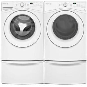 Whirlpool WFW75HEFW 5.2 cu.ft.Front Load Washer Dryer YWED75HEFW Pair Sale