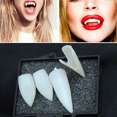 4PCS Halloween Vampire Fangs Werewolf Teeth Tooth Fancy Dress Costume Accessory