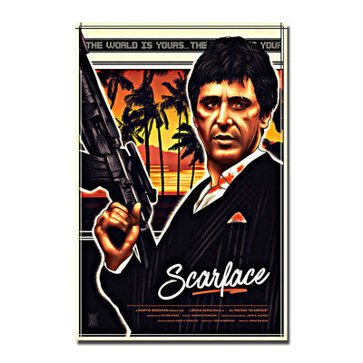 Al Pacino Tony Montana Scarface 1983 Movie Silk Canvas Poster 13x20 24x36 inch