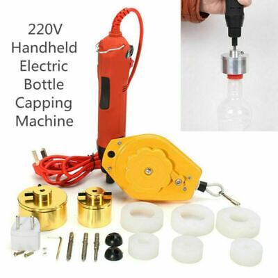 220v Handheld Electric Bottle Capping Machine Screw Capper Machine 10-50mm Us