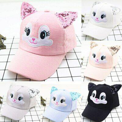 Cartoon Cat Baby Hat With Ears Baseball Cap Summer Boy Girl Sun Hat Kid Snapback - Baby Cat Ears