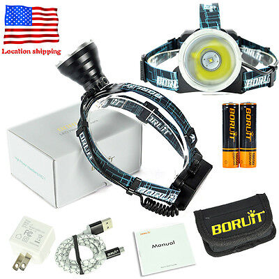 Head Spotlight - USA B10 Micro Rechargeable Headlamp Head Light Torch Lamp,XM-L L2 LED Spotlight