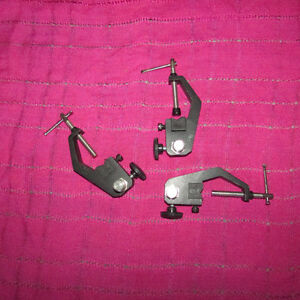 3 drum Microphone Clamps
