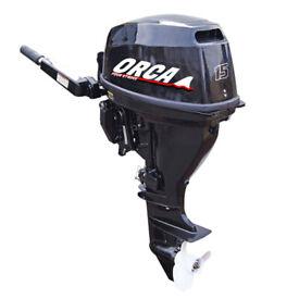 Orca 15hp outboard engine short shaft unused 3yr warranty