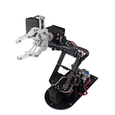 6dof Aluminium Arm Clamp Claw Machinery Mechanical Robot Kit For Arduino