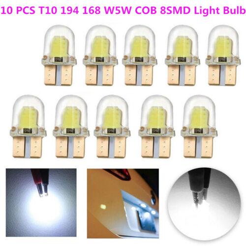 10x T10 194 168 W5W COB 4SMD LED CANBUS Silica Bright White License Light lamp