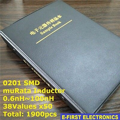 0201 Smd Chip Inductors Assorted Kit 0.6nh100nh 38valuesx50 Sample Book Murata
