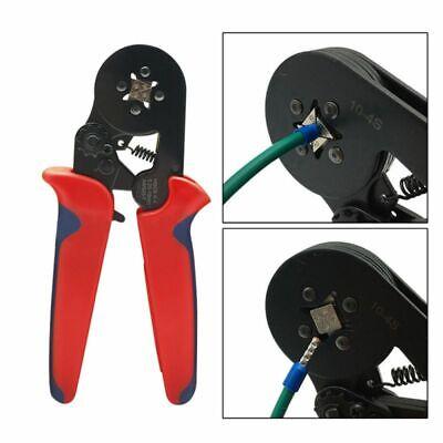 Ratchet Ferrule Crimper Plier Crimping Tool Cable Wire Terminal Connector Kit